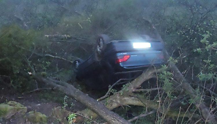 Ranná dopravná nehoda pri obci Streženice