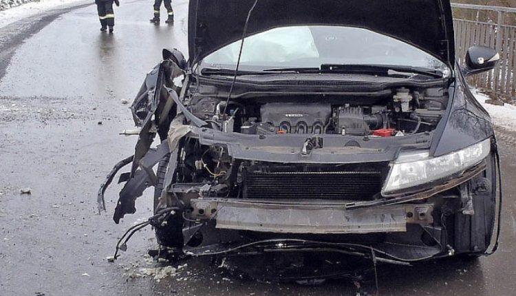 Dopravná nehoda pri Belušských Slatinách