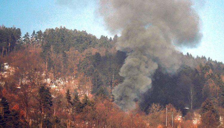 Požiar drevenej chatky v záhradkárskej oblasti