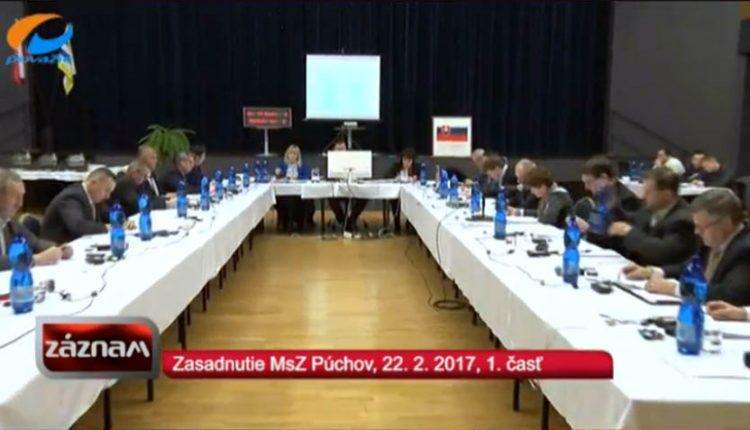 Záznam TV Považie zo zasadnutia MsZ zo dňa 22. 2. 2017