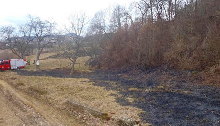 Požiar trávnatého porastu v katastri obce Streženice