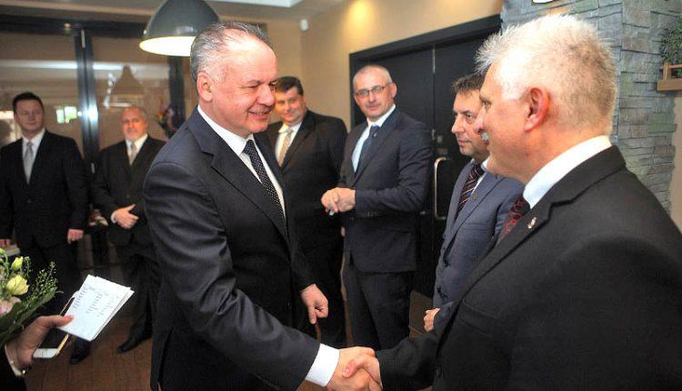 Púchovský primátor na rokovaní s prezidentom Kiskom