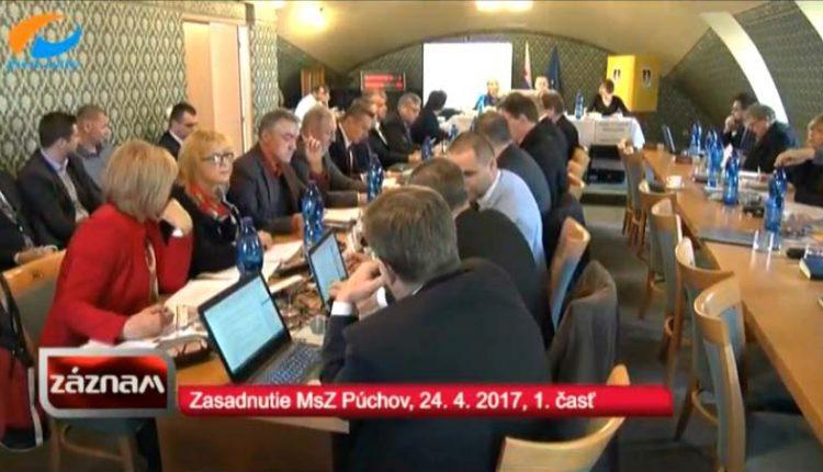 Záznam TV Považie zo zasadnutia MsZ zo dňa 24. 4. 2017