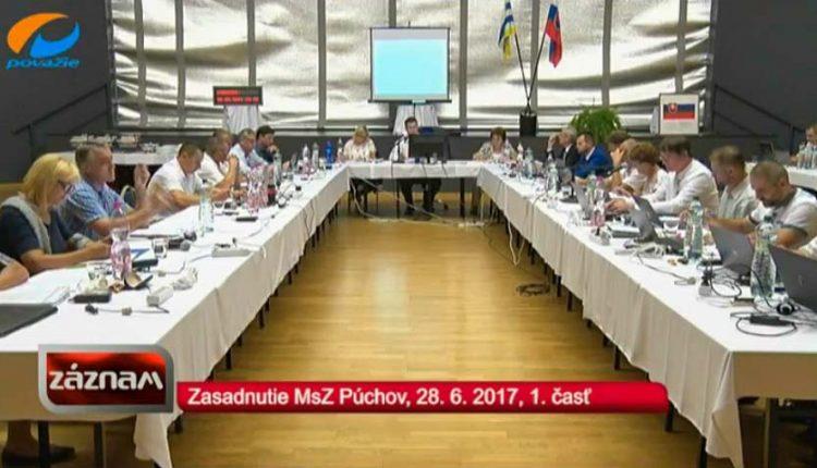 Záznam TV Považie zo zasadnutia MsZ zo dňa 28. 6. 2017