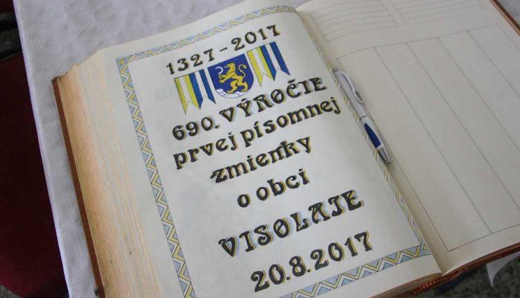 Obec Visolaje oslávila 690. výročie, pri tejto príležitosti ocenila 10 obyvateľov