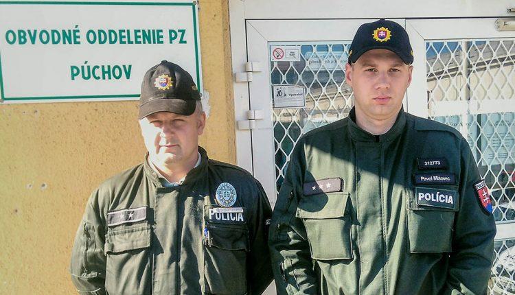 Púchovskí policajti zachránili ľudský život