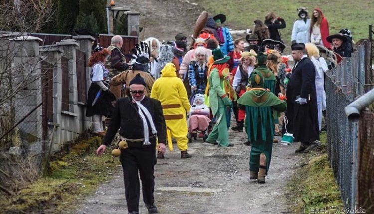 Fašiangová zábava v obci Lúky