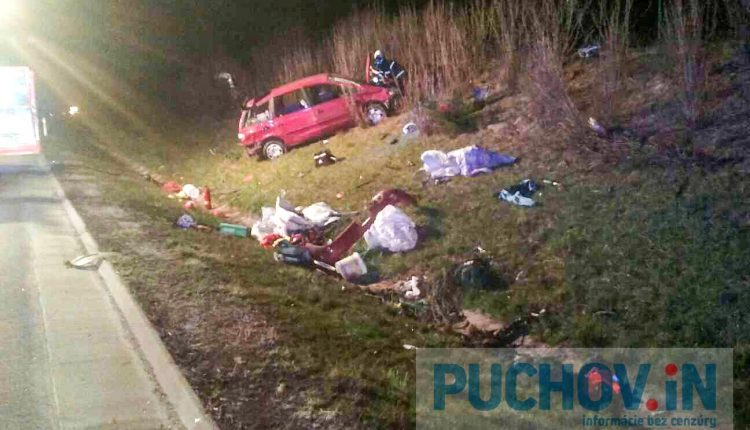 Dopravná nehoda na diaľnici D1 pri obci Visolaje