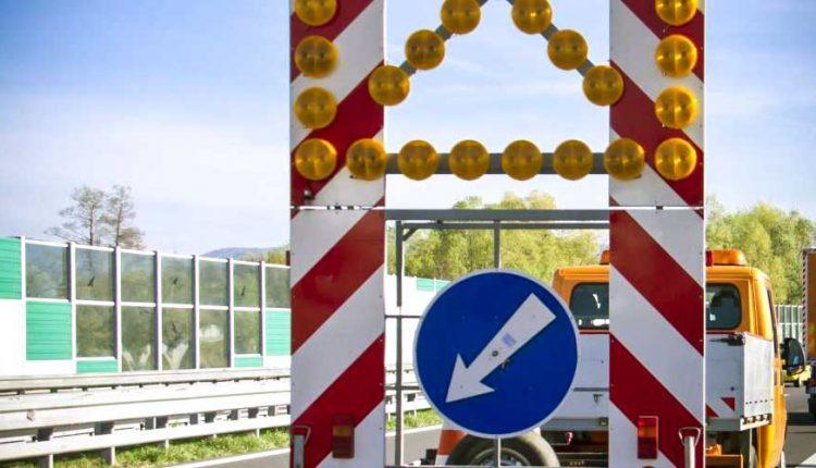 Dopravné obmedzenie na diaľnici pri Sverepci