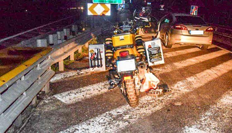 FOTO: Opitý 43-ročný motorkár spôsobil nehodu na diaľnici