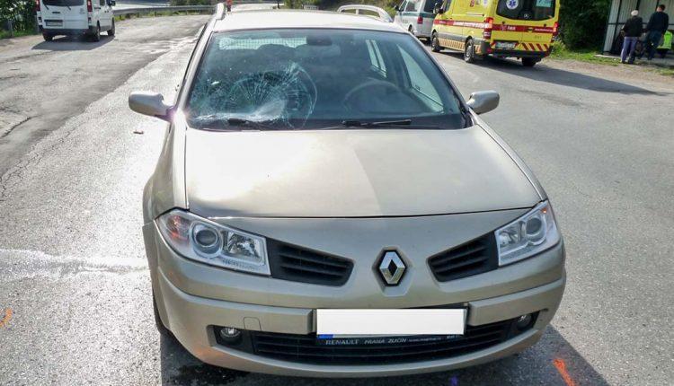 FOTO: Chodec pri strete s autom utrpel zranenie