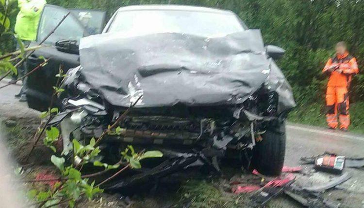 FOTO: Vážna dopravná nehoda dvoch vozidiel pri Púchove