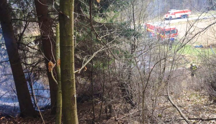 FOTO: Požiar v Beluši, Lazoch pod Makytou a nad Nimnicou