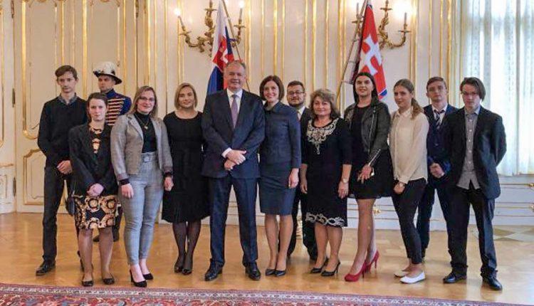 Študenti z Púchova u prezidenta Slovenskej republiky
