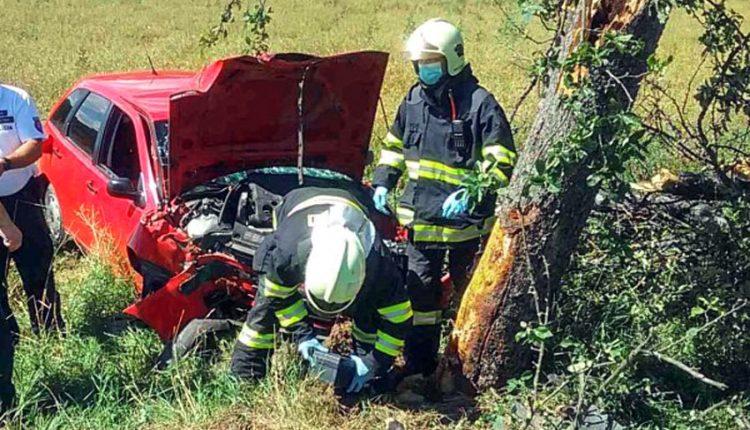 FOTO: Auto narazilo priamo do stromu