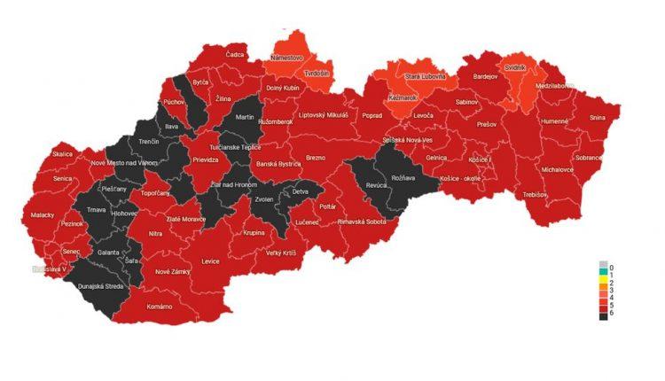 Okres Považská Bystrica je zaradený opäť v čiernej farbe