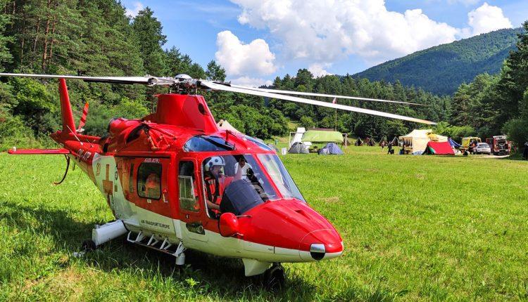 FOTO: Výbuch plynu v detskom tábore: Pomáhali dva záchranárske vrtuľníky